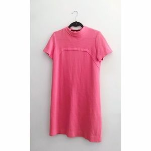 60s Mod Pink Shift Dress